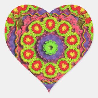 Cinco De Mayo Pinata Abstract Heart Sticker