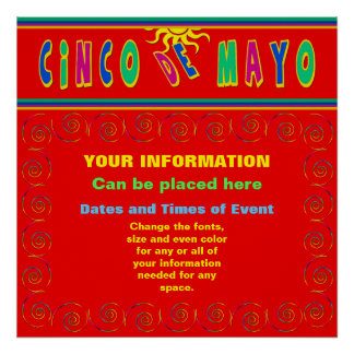 CINCO DE MAYO POSTER - PLACE YOUR INFORMATION