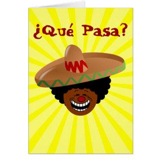 Cinco de Mayo - Que Pasa: Español para la fiesta Tarjeta Pequeña