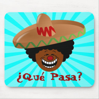 Cinco de Mayo - Que Pasa: Spanish for Funky Fiesta Mouse Pad