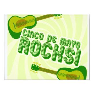 Cinco de Mayo Rocks! 4.25x5.5 Paper Invitation Card