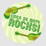 Cinco de Mayo Rocks! Round Stickers