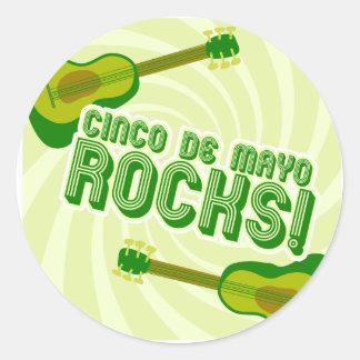 Cinco de Mayo Rocks! Classic Round Sticker