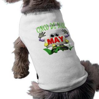 Cinco De Mayo Camisa De Mascota