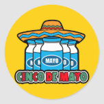 Cinco De Mayo Round Stickers
