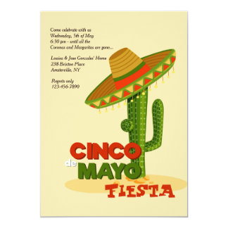Cinco de Mayo Sombrero Invitation