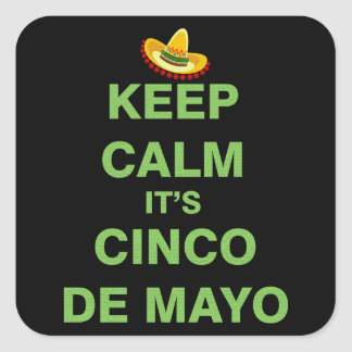 Cinco de Mayo Square Sticker