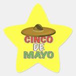 Cinco De Mayo Star Sticker