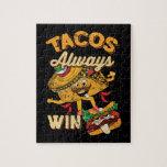 Cinco De Mayo Taco Lover Vintage Tacos Jigsaw Puzzle