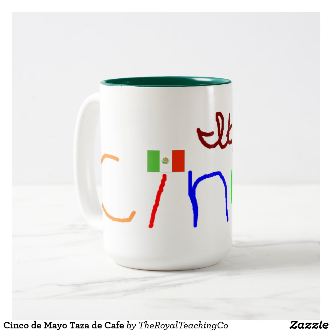 Cinco de Mayo Taza de Cafe Two-Tone Coffee Mug