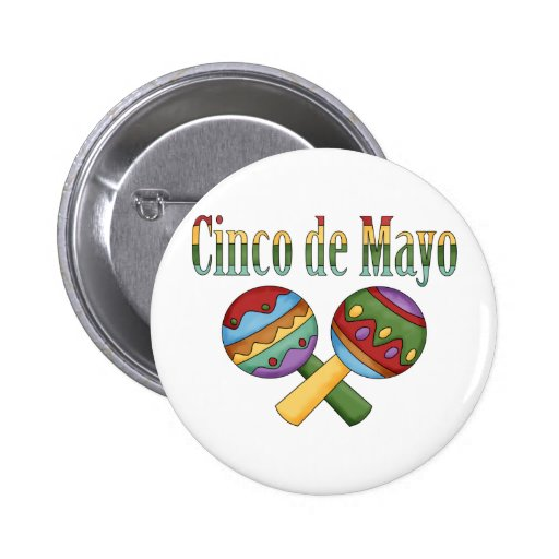 Cinco de Mayo Tees and Gifts for Kids, Adutls Pinback Button