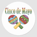 Cinco de Mayo Tees and Gifts for Kids, Adutls Round Stickers
