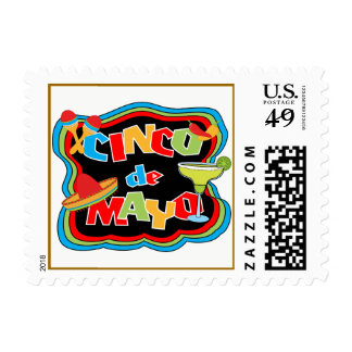 Cinco de Mayo Typography Holiday Postage