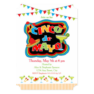 Cinco De Mayo Typography Party Invitation