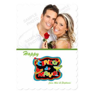 Cinco De Mayo Typography Photo Cards