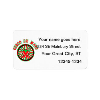 Cinco de mayo w pepper seal personalized address labels