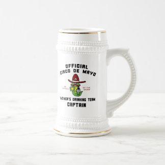 Cinco de Mayo Women's Drinking Team Captain Beer Stein