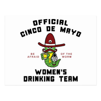 Cinco de Mayo Women's Drinking Team Postcard