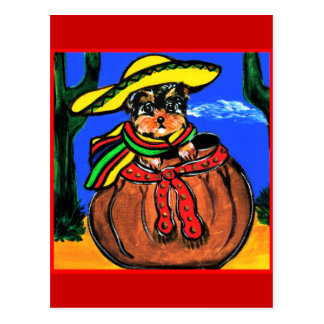 Cinco de Mayo Yorkie Poo Postcard