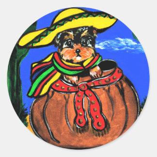 Cinco de Mayo Yorkie Poo Sticker