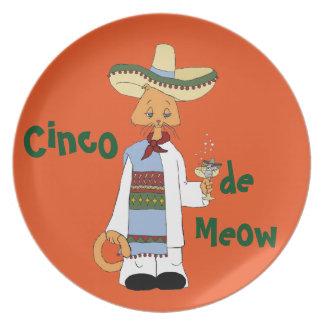 Cinco de Meow Plate
