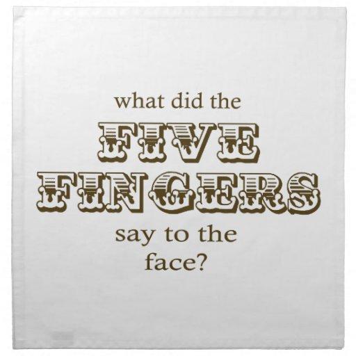 Cinco dedos servilleta