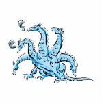 Cinco dirigieron el dragón escultura fotografica