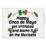Cinco divertido de Mayo Felicitación