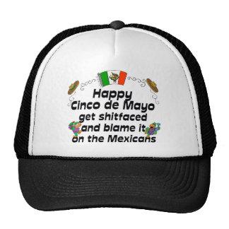 Cinco divertido de Mayo Gorras De Camionero