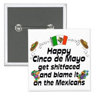 Cinco divertido de Mayo Pin
