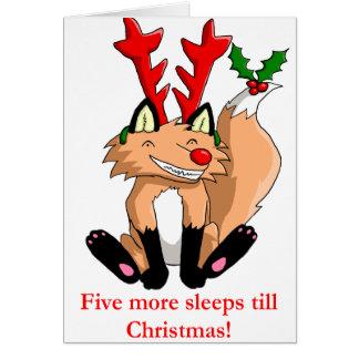 Cinco duerme más hasta tarjeta de Navidad