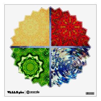 Cinco elementos vinilo decorativo