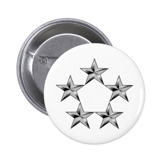 Cinco-estrella-general Pin Redondo De 2 Pulgadas