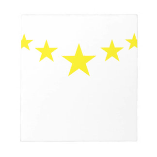 Cinco estrellas exclusivas libreta para notas