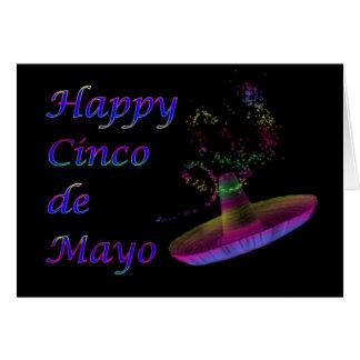 Cinco feliz de Mayo con el sombrero Tarjeta De Felicitación