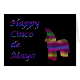 Cinco feliz de Mayo con pinata Tarjeta De Felicitación