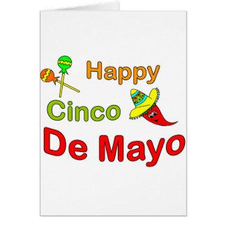 Cinco feliz De Mayo Tarjeta De Felicitación