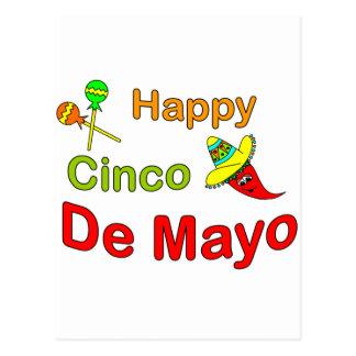 Cinco feliz De Mayo Tarjeta Postal