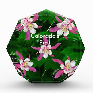 Cinco flores rosadas de Columbine