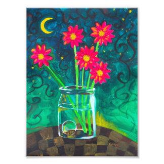 """""""Cinco flores rosadas felices """" Cojinete"""