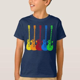 Cinco guitarras eléctricas playera