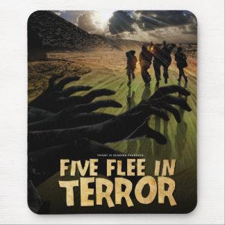 Cinco huyen en cojín de ratón del terror tapetes de raton