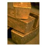 Cinco ladrillos del oro de 90 libras tarjetas postales