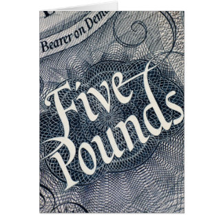 Cinco libras tarjeta de felicitación