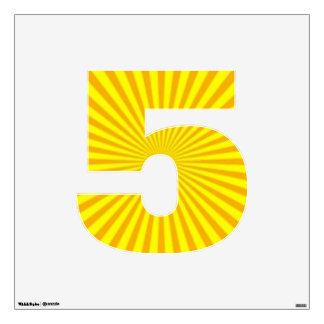 Cinco-Medio del número de la etiqueta de la pared Vinilo Adhesivo
