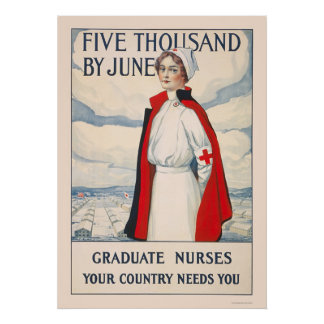Cinco mil en junio - enfermeras graduadas necesari póster