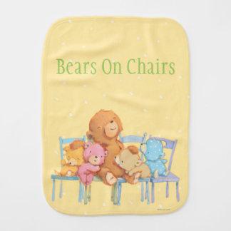Cinco mimosos y coloridos refiere sillas paños para bebé