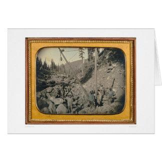 Cinco mineros del cauce del río… (40064) tarjeta de felicitación
