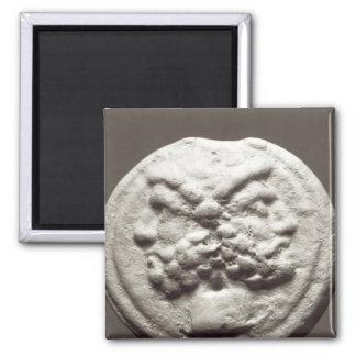 Cinco monedas que representan Jano, Júpiter Imán Cuadrado