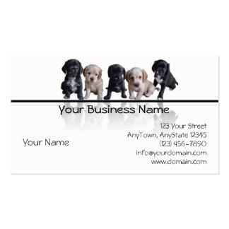 Cinco negros y perritos de cocker spaniel del more tarjeta de visita